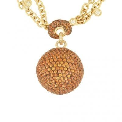 Sparkling 18K Yellow Gold Bijoux Collier Boule Collection Diamond Necklace