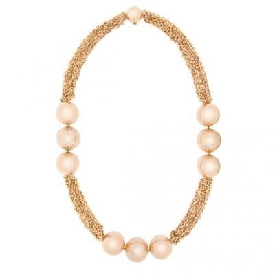 Modern 18K Rose Gold Bijoux Collier Boule Collection Diamond Necklace