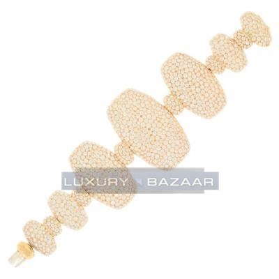 Contemporary 18K Yellow Gold Bijoux Zucchero Diamond Bracelet