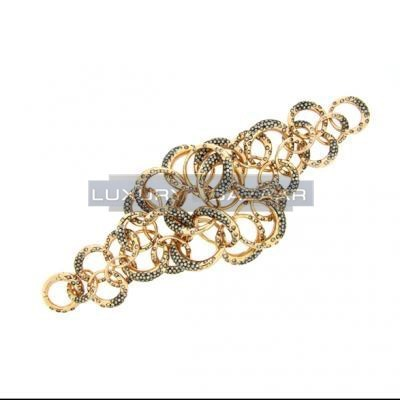 Lovely 18K Rose Gold Bijoux Anelli Collection Diamond Bracelet