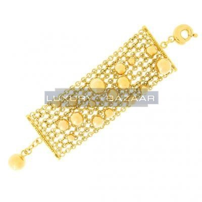 Gorgeous 18K Yellow Gold Bijoux Bole Collection Bracelet