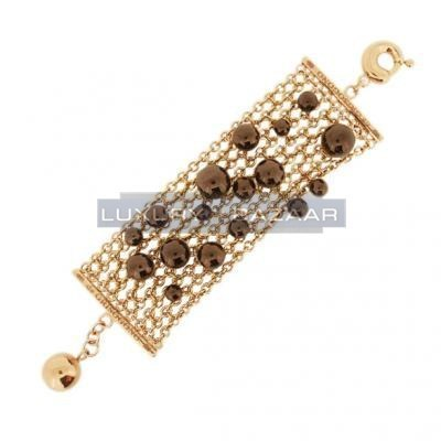 Gorgeous 18K Brownish Rose Gold Bijoux Bole Collection Bracelet