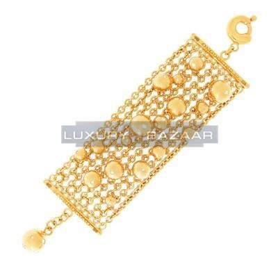 Gorgeous 18K Yellow Gold Bijoux Bole Collection Diamond Bracelet