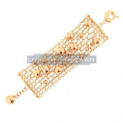 Gorgeous 18K Rose Gold Bijoux Bole Collection Diamond Bracelet