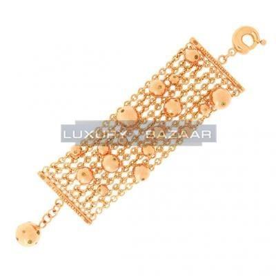 Gorgeous 18K Rose Gold Bijoux Bole Collection Gemstone Bracelet