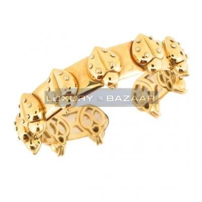 Attractive 18K Yellow and White Gold Cocinelle Animaux Bijoux Collection Bracelet