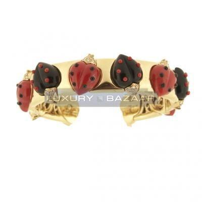 Charming 18K Yellow Gold Bijoux Animaux Collection Diamond Bracelet