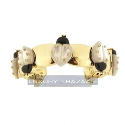 Chrismatic 18K Yellow Gold Cocinelle Animaux Bijoux Collection Diamond and Gemstone Bracelet