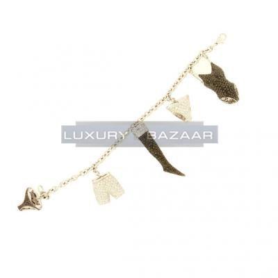 Adorable 18K White Gold Bijoux Haute Joaillerie Collection Diamond Charm Bracelet