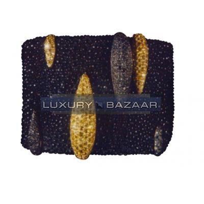 Modern 18K Yellow and White Gold Bijoux Galuchat Collection Cuff Diamond Bracelet