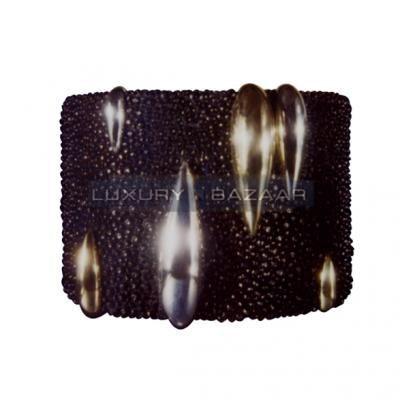 Modern 18K Yellow Gold Bijoux Galuchat Collection Cuff Bracelet