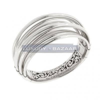 Sleek 18K White Gold Bijoux Allegra Collection Bracelet