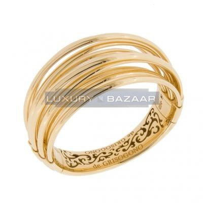 Sleek 18K Yellow Gold Bijoux Allegra Collection Bracelet