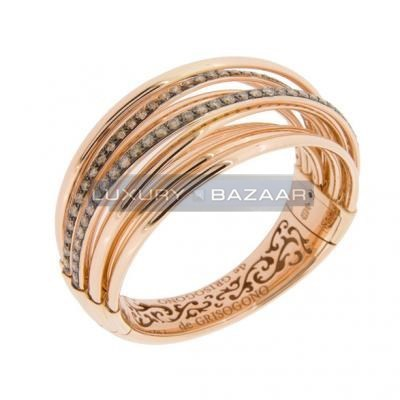 Sleek 18K Rose Gold Bijoux Allegra Collection Diamond Bracelet
