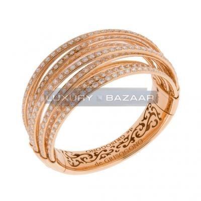 Sleek 18K Rose Gold Bijoux Allegra Collection Diamond Bracelet