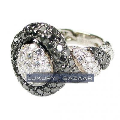 Fabulous 18K White Gold Bijoux Bague Haute Joaillerie Collection Diamond Ring