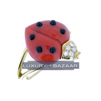Adorable 18K Yellow Gold Bijoux Bague Animauxe Collection Gemstone Ring