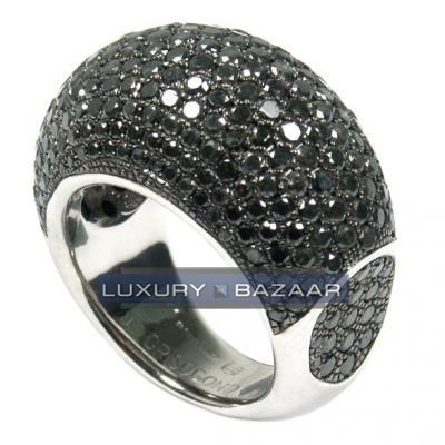 Contemporary 18K White Gold Bijoux Bague Joaillerie Collection Diamond Ring