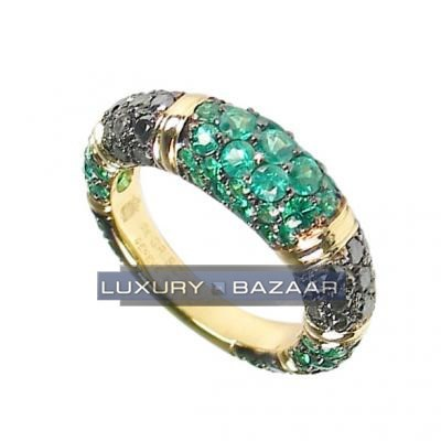 Eye Appealing 18K Yellow Gold Bijoux Bague Joaillerie Collection Gemstone Ring