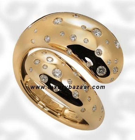 Contrario Diamond Set Pink Gold Bracelet