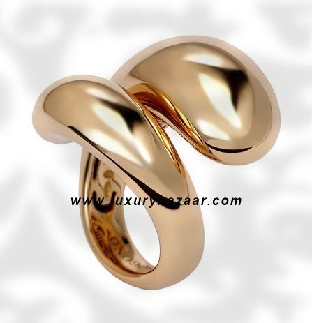 Contrario Pink Gold Ring