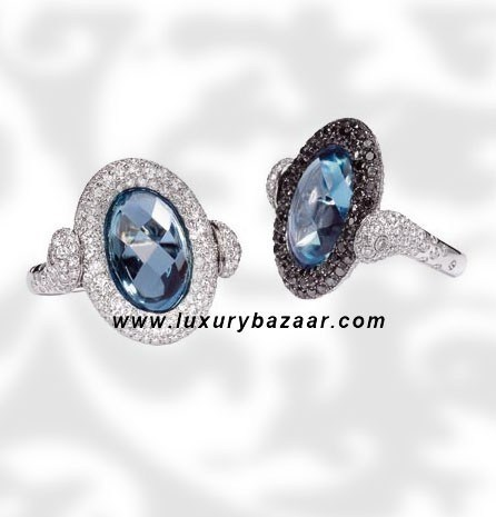 Reversible Black and White Diamond Aquamarine White 6