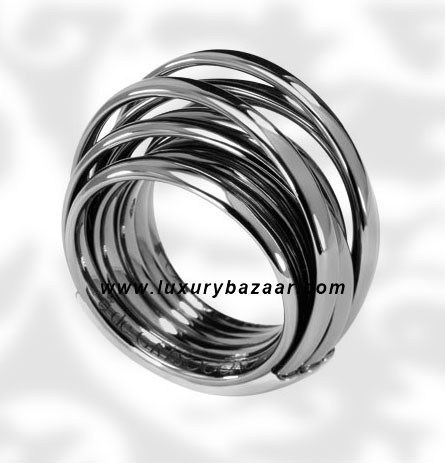 Allegra Blackened White Gold Ring