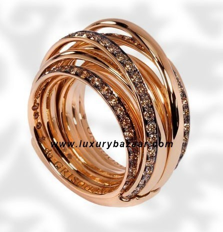 Allegra Pink Gold Brown Diamond Ring