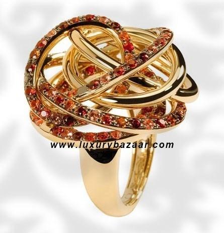 Matassa Spinel Sapphire and Garnet Yellow Gold Ring