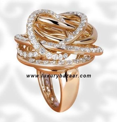 Matassa Diamond Pink Gold Ring