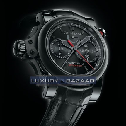 Chronofighter Trigger Back in Black Rattrapante 2TRRB.B08A.C86N