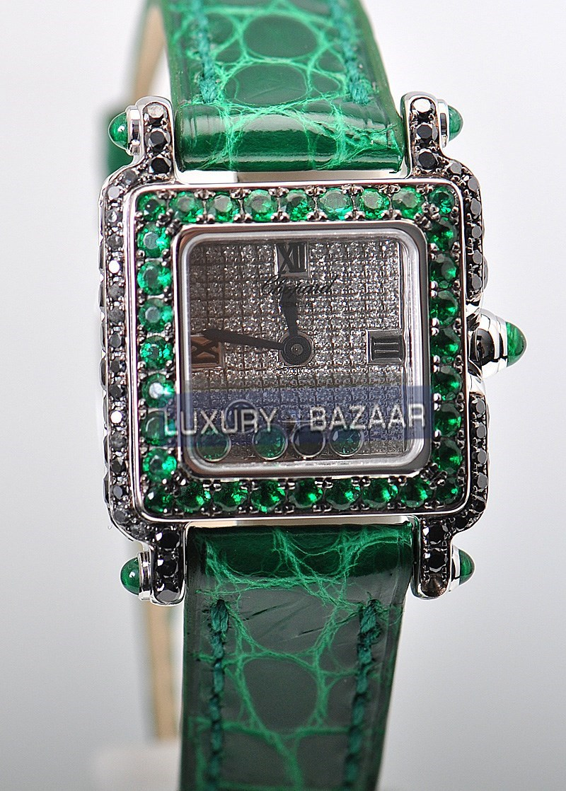 Happy Sport Square 276852-1015 (Emerald Crocodile Leather)