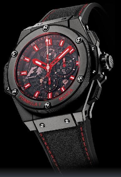 King Power F1 Monza (Titanium-Ceramic / Black-Red / Novex Strap