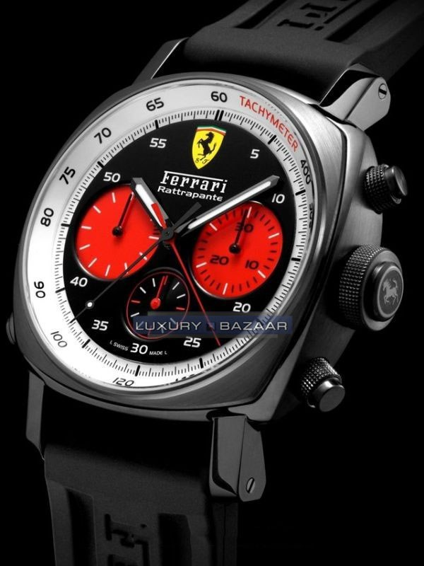 Ferrari Rattrapante Red Counters 45mm DLC FER00033