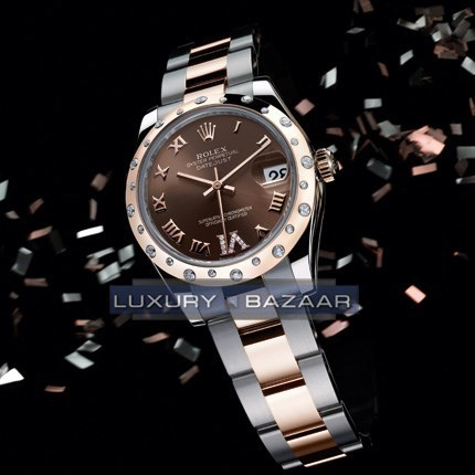 Oyster Perpetual Datejust 31mm Diamond Fluted Bezel 178341 chodro
