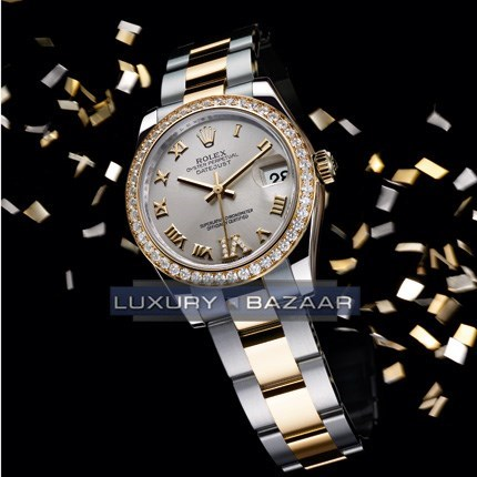 Datejust Lady 31mm (YG-SS / Silver - Diamonds)