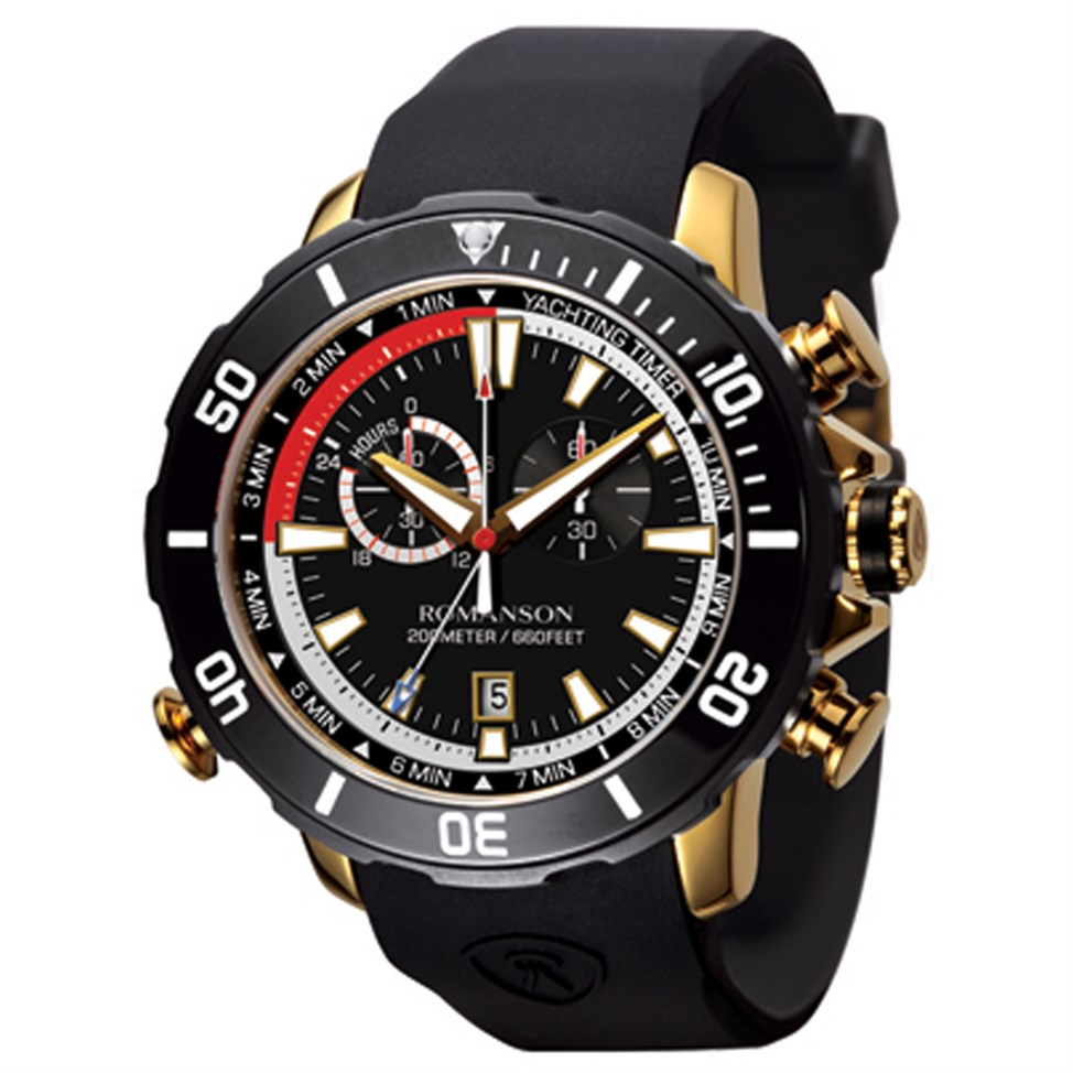 Romanson 23k Gold Plated Wrist Watch For Men Aed