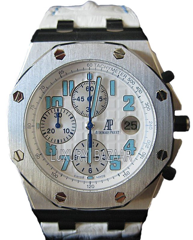 Royal Oak Offshore Rodeo Drive (SS / White / Leather)