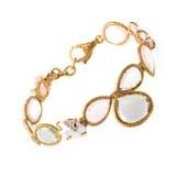 LeaderLine 18K Yellow Gold Multi Quartz & Pearl Bracelet