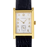 Longines Mens 18K Yellow Gold Quartz Watch L5.662.6.73.2