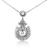 Necklaces 18K White Gold Diamond Pendant Necklace KE97DPMSBZBR