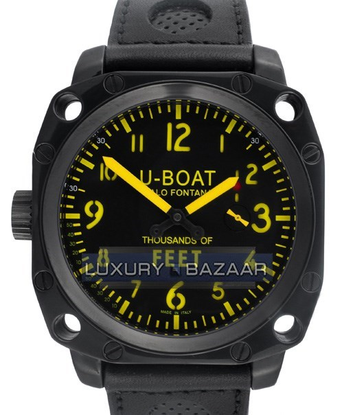 Thousands of Feet MB (SS-PVD / Black-Yellow / Leather Strap)