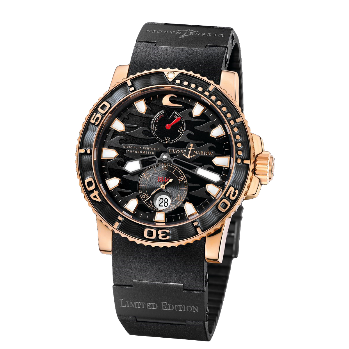 Marine Black Surf Chronometer 42.7mm 266-37LE-3A