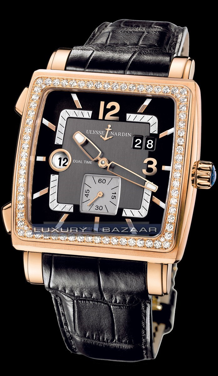 Quadrato Dual Time 42x42mm 246-92B/692