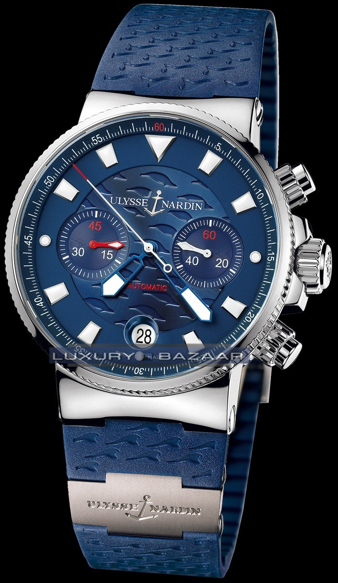 Maxi Marine Blue Seal Chronograph 41mm 353-68LE-3