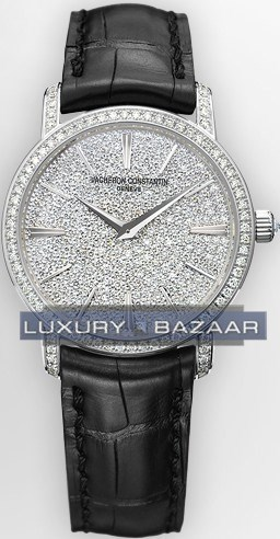 Patrimony Traditionelle Small Full Pave 25559/000G-9280