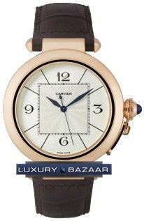 Pasha 42mm  (RG / Silver /Croc Leather)