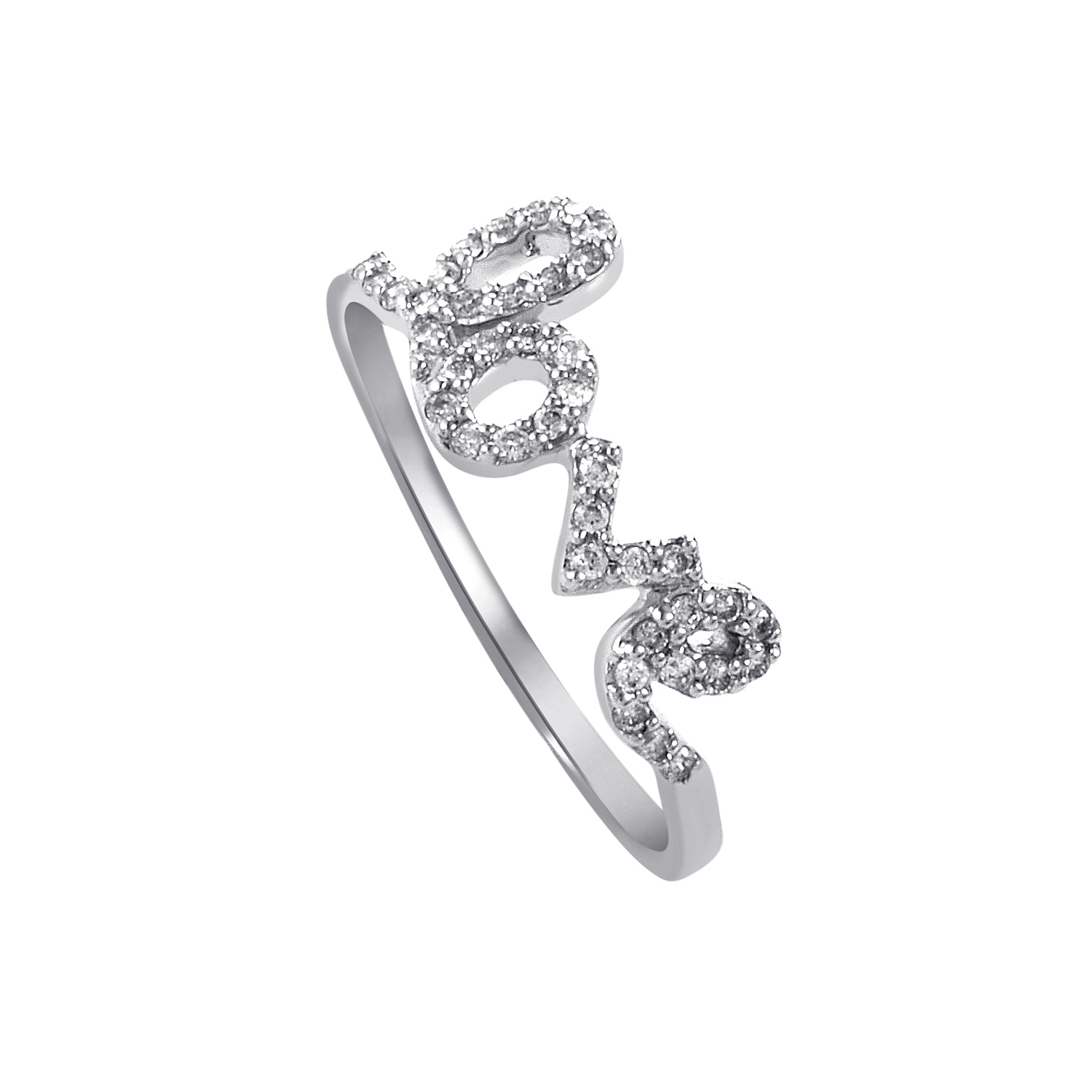 Women's 18K White Gold Diamond