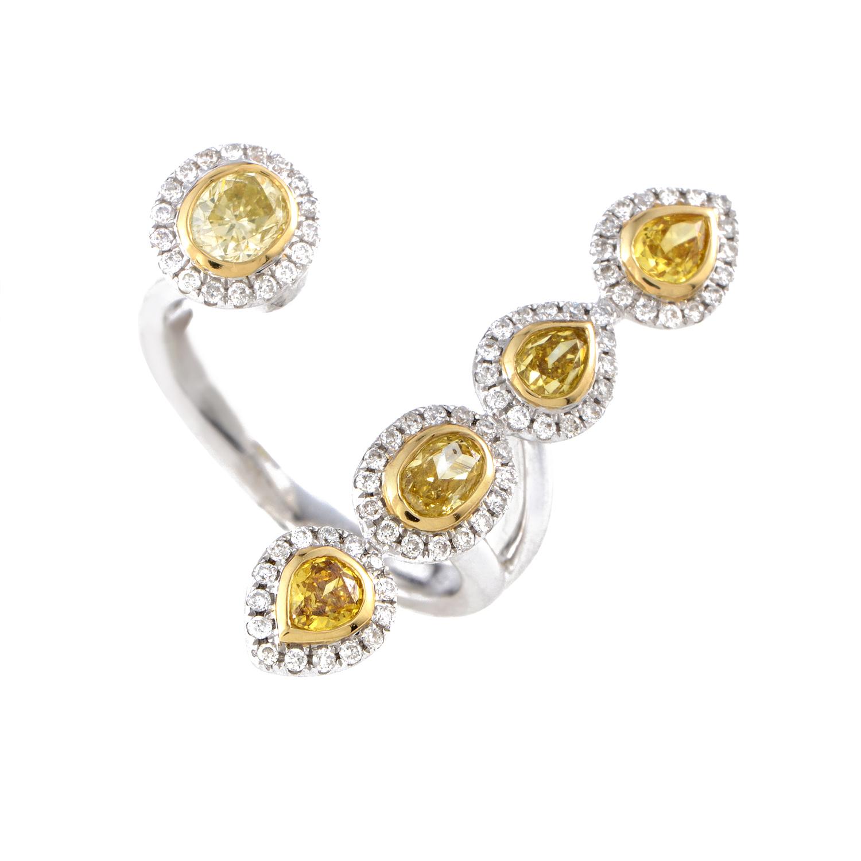 18K Multi-Tone Gold & Diamond Openwork Ring kodf6454rubzzz